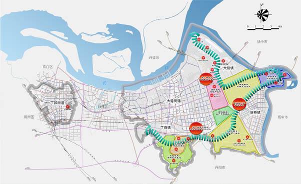 镇江圌山风景区简易地图