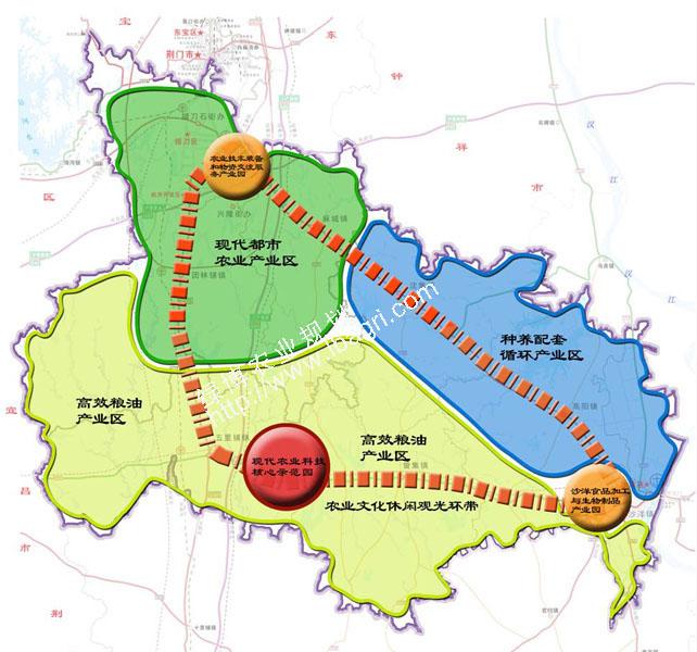 湖北荆门市荆三角现代农业发展规划(2012-2030)